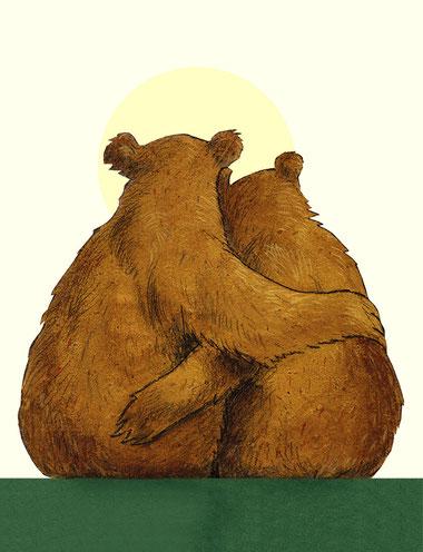"""Illustration aus einem der """"Kinderzimmerkalender"""" von Wolf Erlenbruch. Bildnachweis Teaser: Autor: © Francoise Saur, Illustrationen: © Peter Hammer Verlag"""