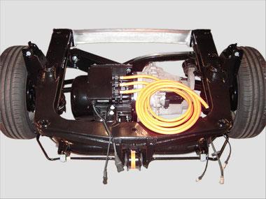 Motor AKOE 132 in Smart 450 Hinterachse verbaut.