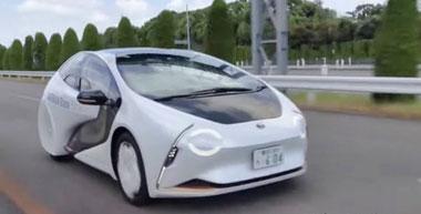 公道で固体電池を搭載したテスト車両