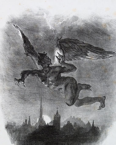 "Eugène Delacroix, ""Mefistofele nel cielo"" (1828)"