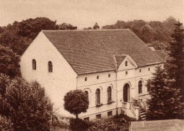 """Die Präparanden-Anstalt, sog. """"Kleine Schule"""", um 1925."""