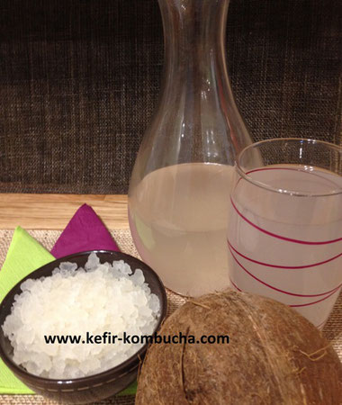 Kefir de fruits à l'eau de coco