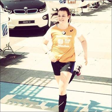 Saskia beim Münchner Stadtlauf 2015
