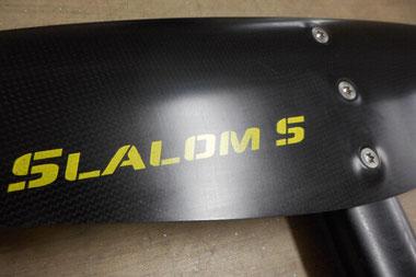 Détail des vis de l'aile Slalom S - foil aeromod v2