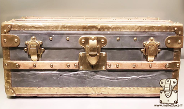 Louis Vuitton Zinc and Brass Mini Cabin Trunk