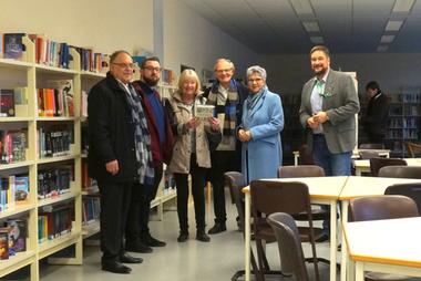v.l.n.r. :  Günther Bomm, Matthias Fehl, Karin Plank-Dietz, Herbert Speyerer,  MdL Lerch u. Sven Störmer