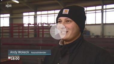 Andy Wokeck hat sein Studium an der FH Flensburg abgebrochen und wagt jetzt einen Neuanfang (Quelle: NDR Schleswig-Holstein 18:00)