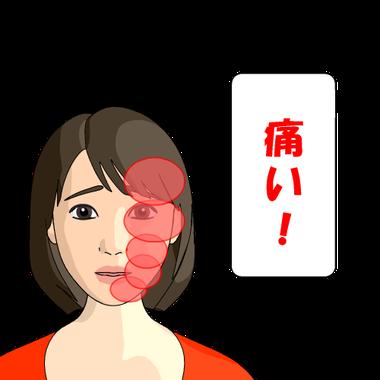 顔の痛みを感じやすい部分