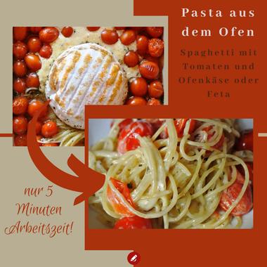 Schnelles Ofenkäse Rezept: Pasta aus dem Ofen - 5 Minuten Arbeitszeit