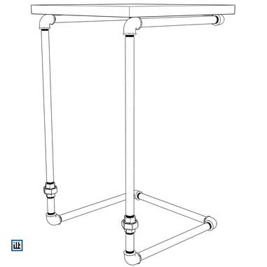 DIY Rohrmöbel Bauplan Beistelltisch