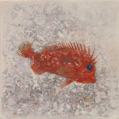 カナコギ 10x10cm  日本画