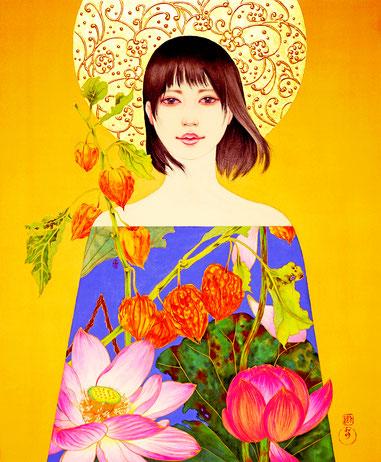 「心きよら」 日本画 F12号 税込396,000円