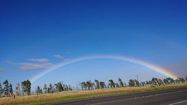 ハワイ島での虹