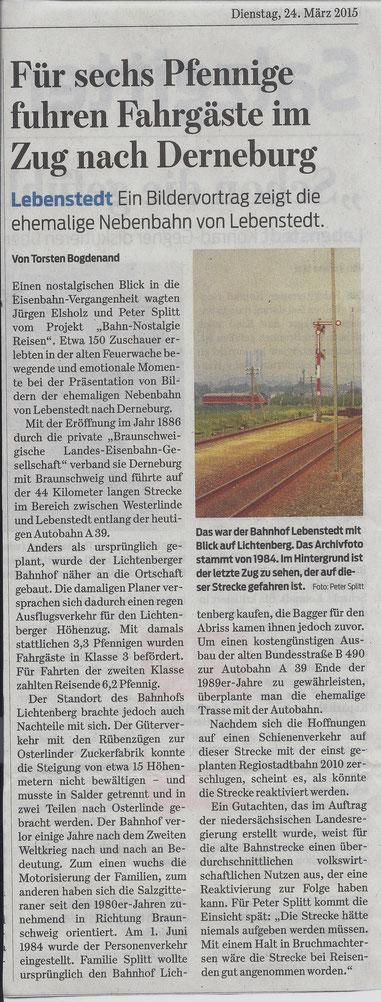 Für sechs Pfennige fuhren Fahrgäste im Zug nach Derneburg