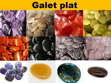 Galet plat - Boutique de minéraux - Casa bien-être.fr