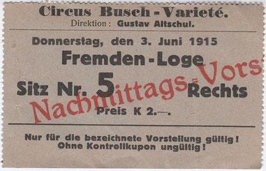 Circus Busch - Variete 1915