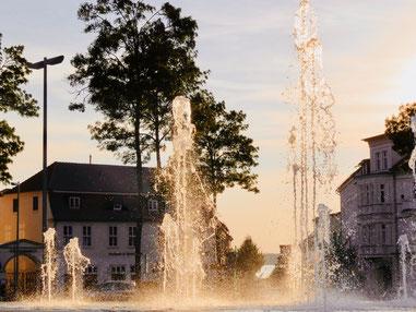 Marktplatz Neustrelitz Wasserspiele