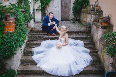 Traumhochzeit mit Jennifer und Conrad im Schloss Pücha.
