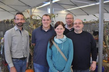 (v. l. n. r.) Benjamin Freitag, Tobias Nöppert, Erika Stritzki, Wiard Klose, Stefan Einbeck