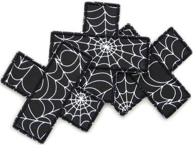 Bild: Hosenpflaster Flicken Pflaster Hosenflicken Spinnweben, Aufnäher für Halloween mit Spinnweben