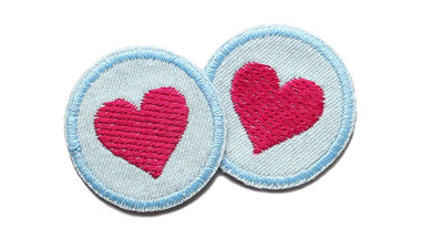 Bild: Jeansflicken Herz mini Patch Maedchen Flicken zum aufbuegeln