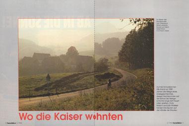 Im Herzen des Stauferlandes: Von Ottenbach führen einsame Kurven zum Rechberg hinauf.