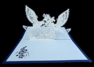 Carte Kirigami colombes