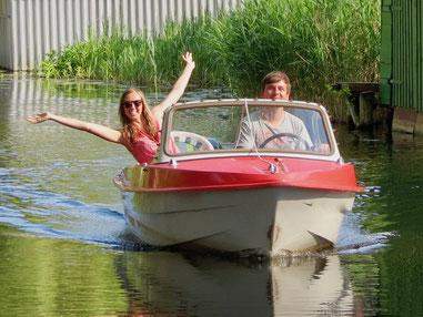 Ibis, DDR-Sportboot, Boot fahren auf Mecklenburger Seenplatte