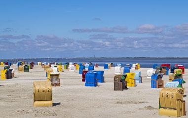 Strankörbe, Strand, Meer, Neßmersiel