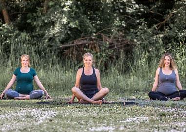 Yoga in der Schwangerschaft im Studio von Silke Waldmann-Burhardt