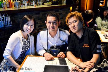 韓国の柳承佑(中央)と青木亮二