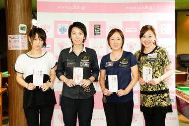 全日本女子プロツアー第2戦上位入賞者