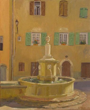Tony Wahlander (Wåhlander) La fontaine au quatre saisons de Barjols