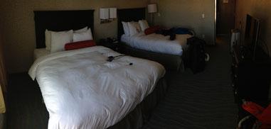 Typisches Hotelzimmer in den USA