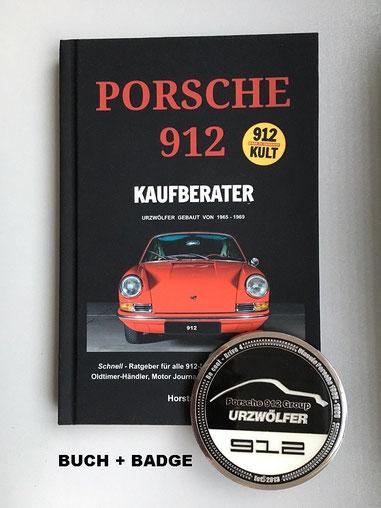 Porsche 912 Kaufberater - Buch + 912 Grill-Badge SET