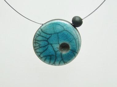 collier céramique raku artisanal