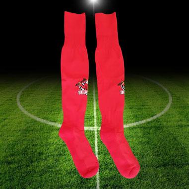 Voetbal kousen of sokken laten maken met eigen logo