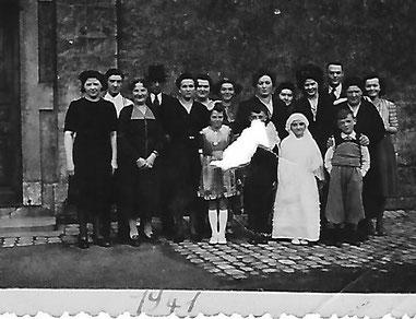 Kommunion von meiber Mutter, Faber Mathilde, 1941