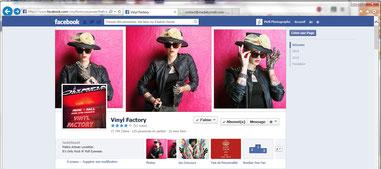 page facebook de Vinyl Factory