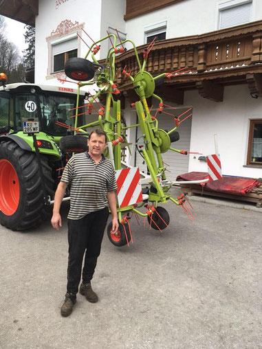 CLAAS VOLTO 60 mit einer Arbeitsbreite von 5,80 m mit Tastrad nach Breitenbach
