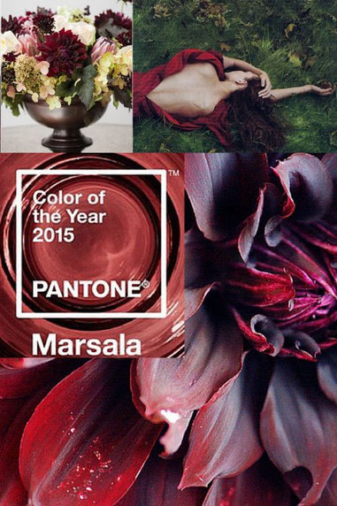 Colour of the year - marsala