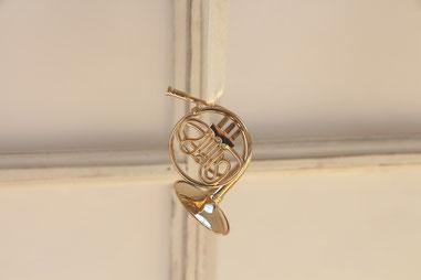 Miniaturhorn aus Messing in 9 cm Länge