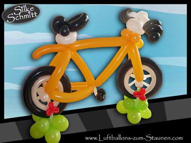 Ballon Luftballon Fahrrad Rad Bicycle Rad Modellage Modellierballons Geschenk Geburtstag Gutschein XXL