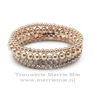 4 Bracelet set - rose