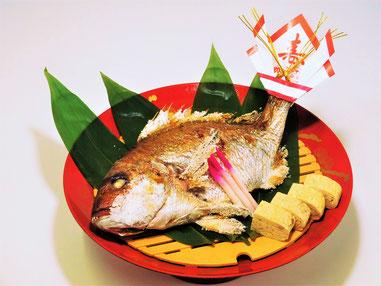 鯛の塩焼き お祝い お食い初め 一升餅 長寿祝い