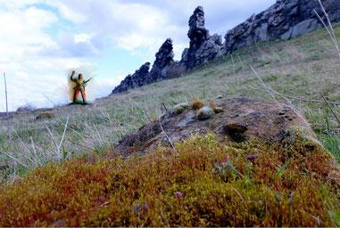 Indianerfigur an der Teufelsmauer Harz