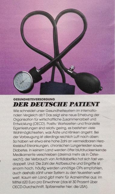 """Presseartikel DONNA 02-2016 """"Der Deutsche Patient"""""""
