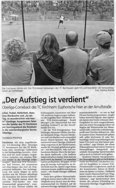 Quelle: Der Teckbote vom 29.07.2014