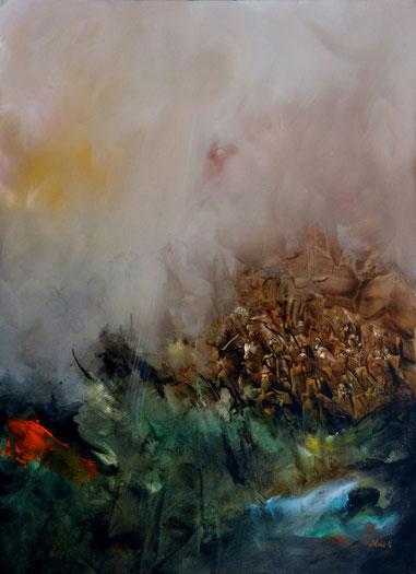 l'enfer VI Acrylique sur toile Dim 100cmx72cm