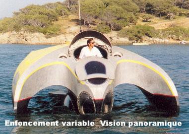 bateau aquavision aquascope vision sous marine à six fours les plages var toulon